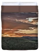 Sun Rays On Colorado Sage Duvet Cover