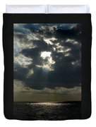 Sun Rays Pierce Through Clouds And Rest Duvet Cover