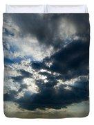 Sun Rays Through Clouds Form A Spot Duvet Cover