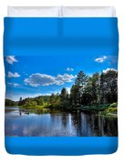 Sun Reflecting On The Moose River Duvet Cover