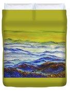 Sun Rise Blue Mountain Duvet Cover