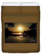 Sun Rise, Hamlin Lake Photograph Duvet Cover