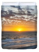 Sun Rising Over Atlantic Duvet Cover