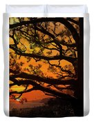 Sun Set At Rancho Palos Verdes, Cali Duvet Cover