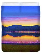 Sun Set On Lake Lure Duvet Cover