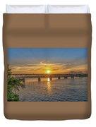 Sun Set Shoals Duvet Cover
