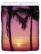 Sun Sets Between Pams Duvet Cover