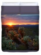 Sun Sets Over The Sonoran  Duvet Cover
