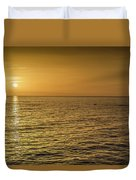 Sun Setting In Barbados Duvet Cover
