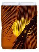 Sun Shining Through Palms Duvet Cover
