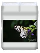 Sun Shining Through The Wings Of A Rice Paper Butterfly Duvet Cover