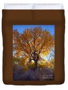 Sun Through Golden Leaves Duvet Cover
