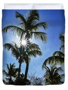 Sun Through Smathers Beach Palms Duvet Cover