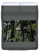 Sun Through Trees In Forest Duvet Cover