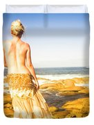 Sunbathing By The Sea Duvet Cover