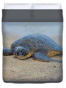 Sunbathing Honu Duvet Cover