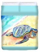 Sunbathing Turtle Duvet Cover