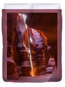 Sunbeam In Antelope Canyon Duvet Cover
