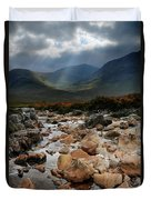 Sunbeams, Glencoe, Scotland Duvet Cover