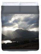 Sunbeams In Glen Affric Duvet Cover