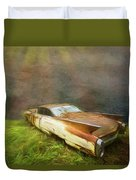 Sunbeams On A Classic Cadillac Duvet Cover