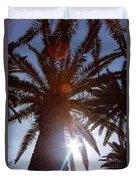 Sunbeams Through The Palms Duvet Cover