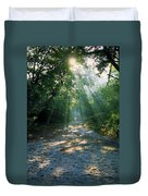 Sunbeams Through Trees Duvet Cover
