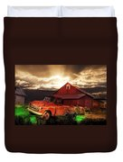 Sunburst At The Farm Duvet Cover