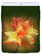 Sunburst Orange Azalea Duvet Cover