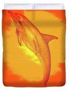 Sunburst Porpoise Duvet Cover