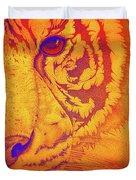 Sunburst Tiger Duvet Cover