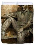 Sundance Kid Statue 5 Duvet Cover
