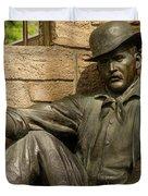 Sundance Kid Statue 6 Duvet Cover