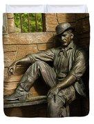 Sundance Kid Statue Duvet Cover