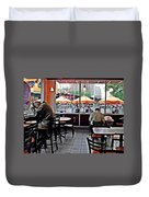 Sunday Afternoon At Dunkin Donuts Duvet Cover