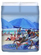 Sunday Beach Blues Duvet Cover