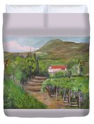 Sunday Morning At Ocone Vini Montesarchio Italy Duvet Cover