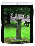 Sundial In St Leonard's Churchyard - Thorpe Duvet Cover