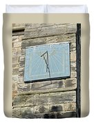 Sundial On St Mary's Church - Tutbury Duvet Cover