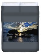 Sundown At Anne's Beach Duvet Cover