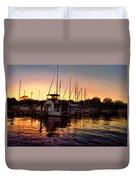 Sundown At The Marina 2 Duvet Cover