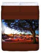 Sundown At The Marina Duvet Cover