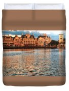 Sundown On The Boardwalk Walt Disney World Duvet Cover