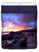 Sundown On The Rocks Duvet Cover