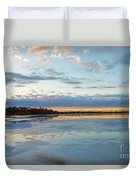 Sundown With Water On Ice Duvet Cover