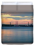 Sunset On The A Murray Mackay Duvet Cover