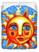 Sunface With Ladybug Duvet Cover