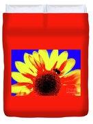 Sunflower Abstract Duvet Cover