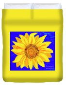 Sunflower, Acrylic Painting Duvet Cover