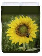 Sunflower Among The Weeds Duvet Cover